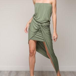 Mustard Seed - Grass Draped Unbalance Dress
